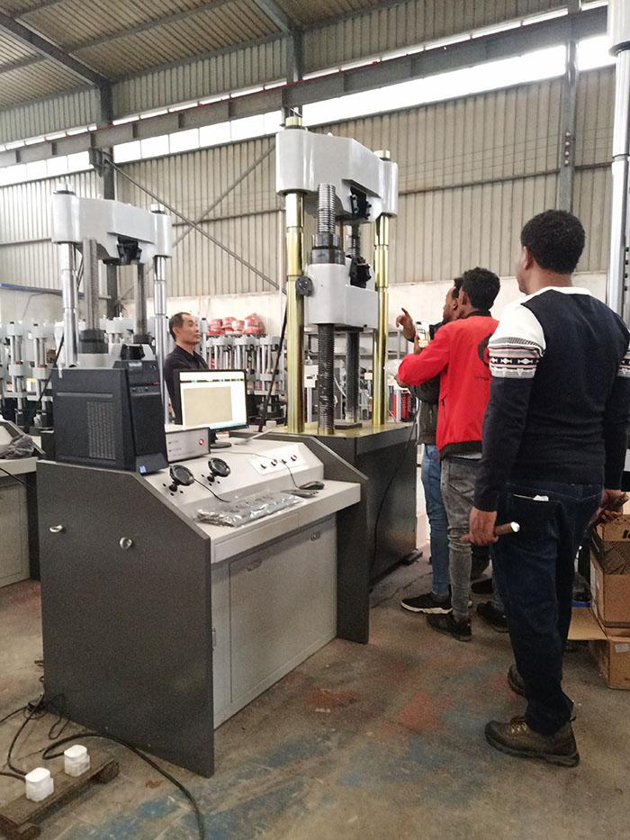 济南辰达国外客户到厂验收bwinios客户端设备
